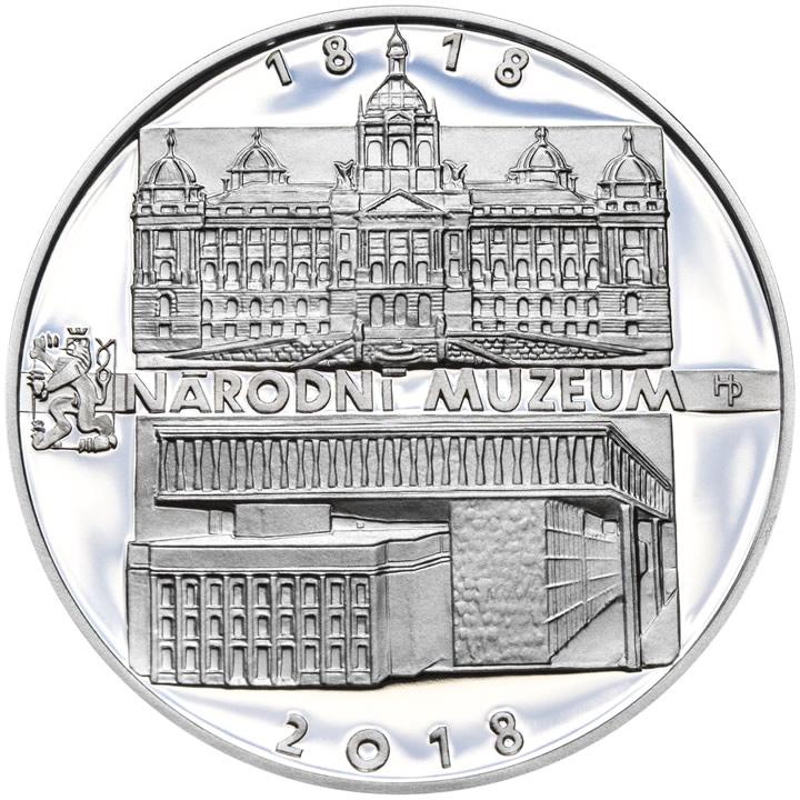 Stříbrná mince - Založení Národního divadla 1818