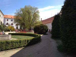 Nádvoří hradu Bítov